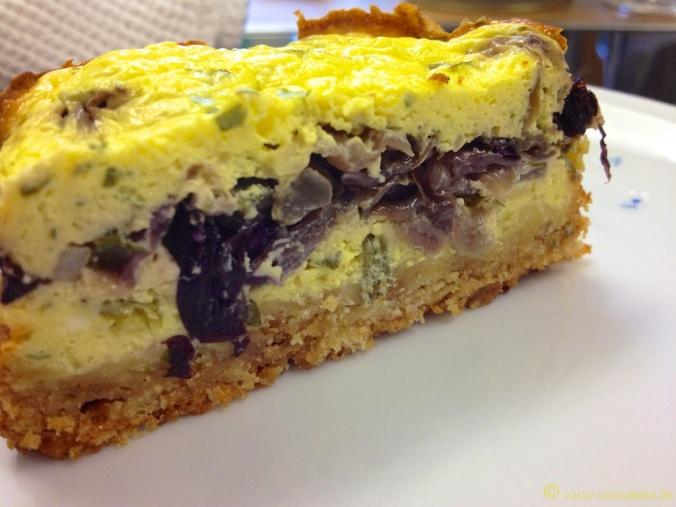 Mini-Raddiccio-Frischkäse-Cakes im Anschnitt